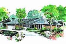 House Blueprint - Ranch Exterior - Front Elevation Plan #72-318