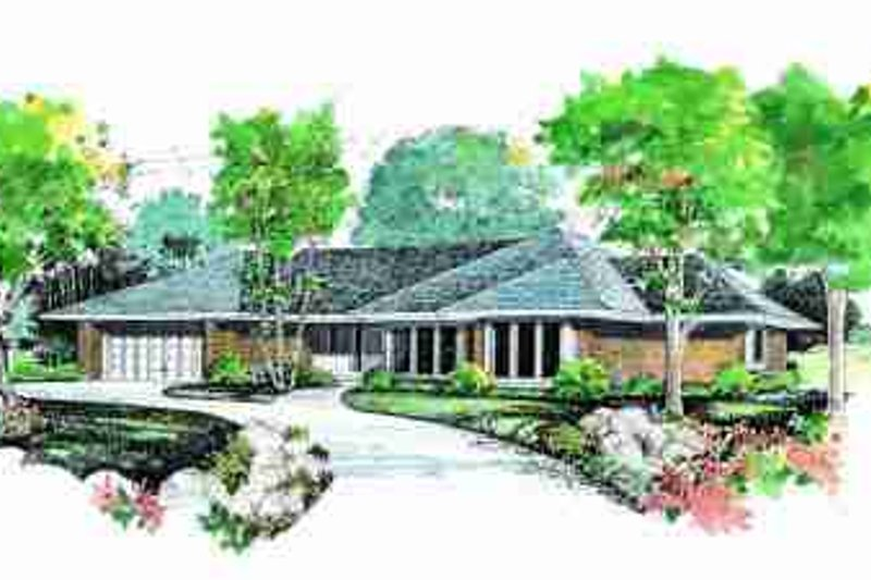 Ranch Exterior - Front Elevation Plan #72-318