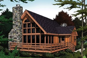 Dream House Plan - Modern Exterior - Front Elevation Plan #314-166