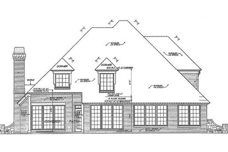 European Exterior - Rear Elevation Plan #310-862 - Houseplans.com