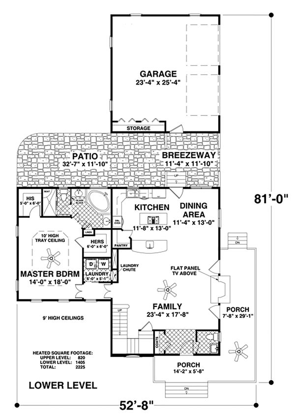 Modern Floor Plan - Main Floor Plan Plan #56-723