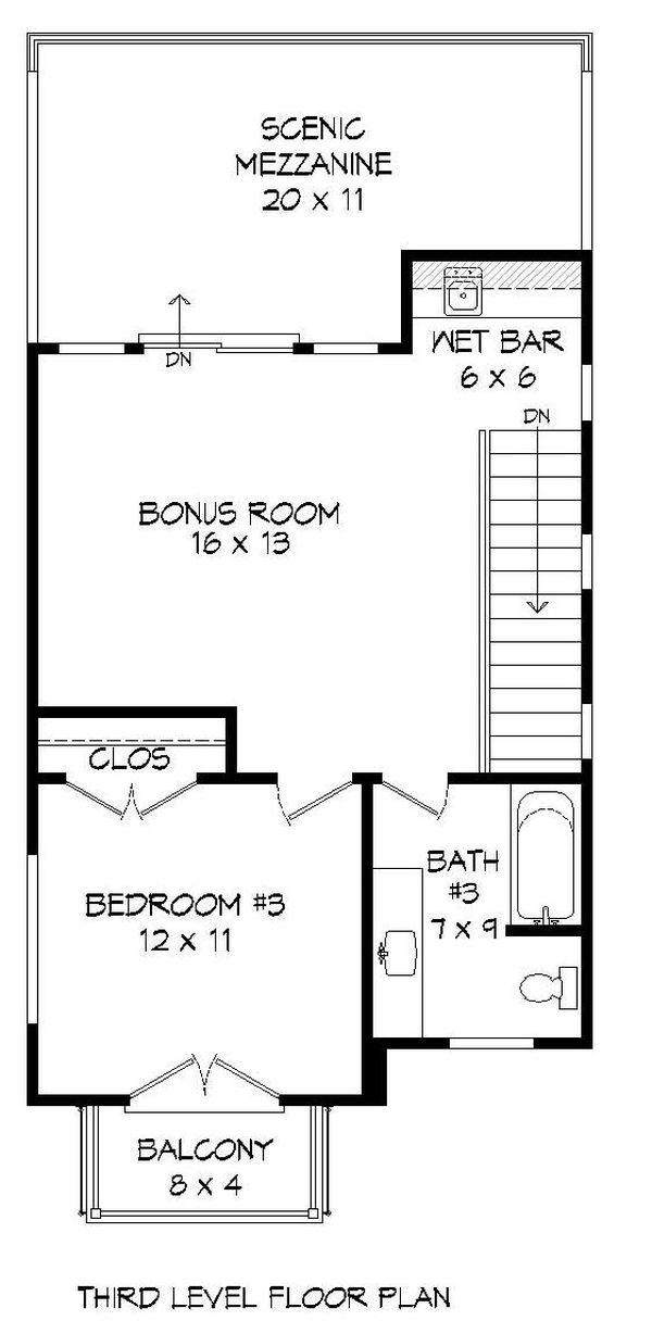 Dream House Plan - Contemporary Floor Plan - Upper Floor Plan #932-243