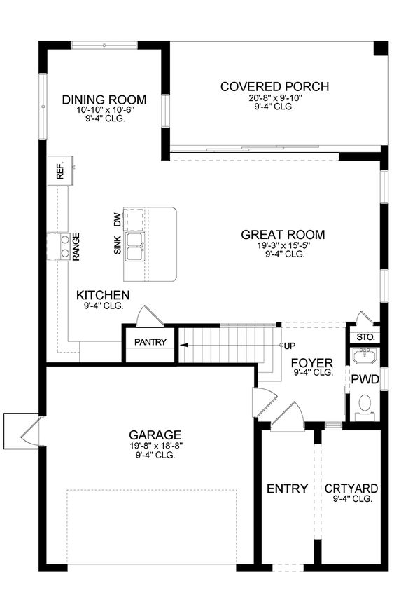 Architectural House Design - European Floor Plan - Main Floor Plan #1058-187