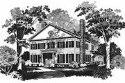 Colonial Style House Plan - 4 Beds 3.5 Baths 2834 Sq/Ft Plan #72-370 Exterior - Front Elevation