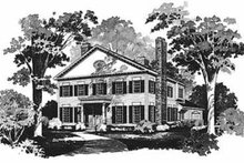 Colonial Exterior - Front Elevation Plan #72-370