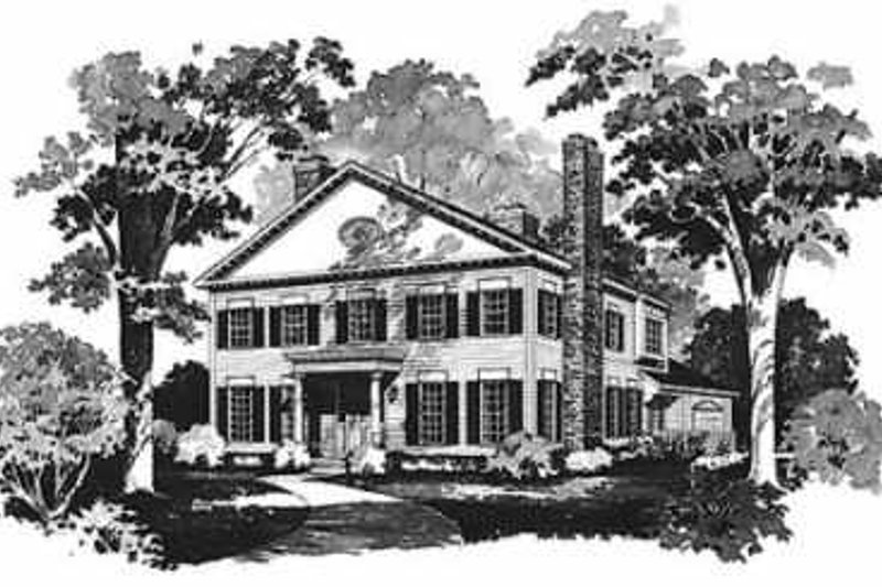 House Blueprint - Colonial Exterior - Front Elevation Plan #72-370