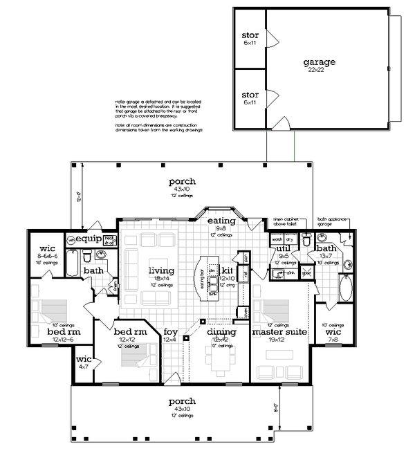 Farmhouse Floor Plan - Other Floor Plan #45-597