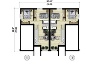 Contemporary Style House Plan - 6 Beds 4 Baths 3404 Sq/Ft Plan #25-4611 Floor Plan - Lower Floor