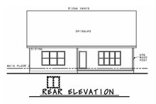 House Plan Design - Tudor Exterior - Rear Elevation Plan #20-2447