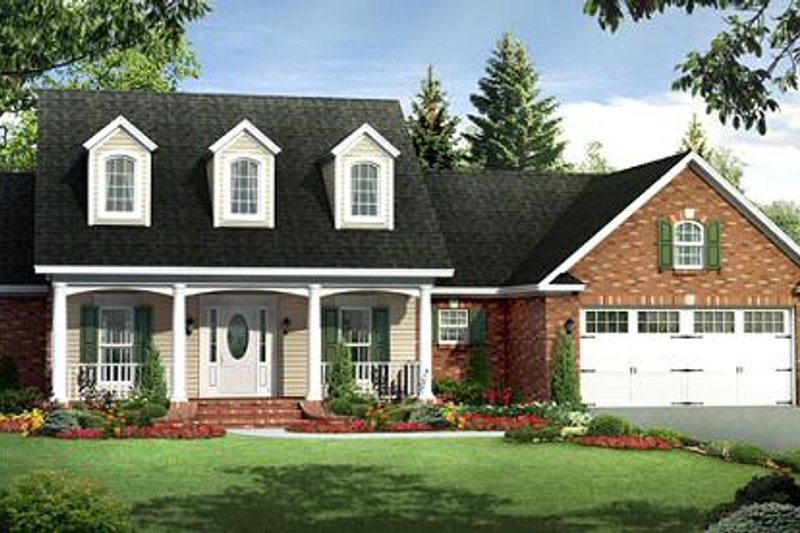 Ranch Exterior - Front Elevation Plan #21-288