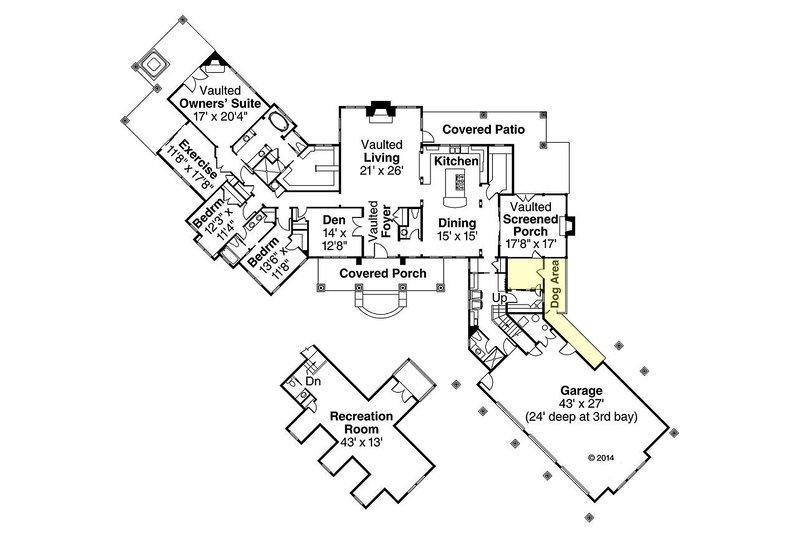 Country Floor Plan - Main Floor Plan Plan #124-967