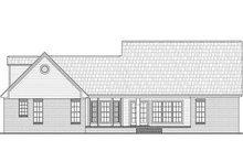 Home Plan - Traditional Exterior - Rear Elevation Plan #21-221