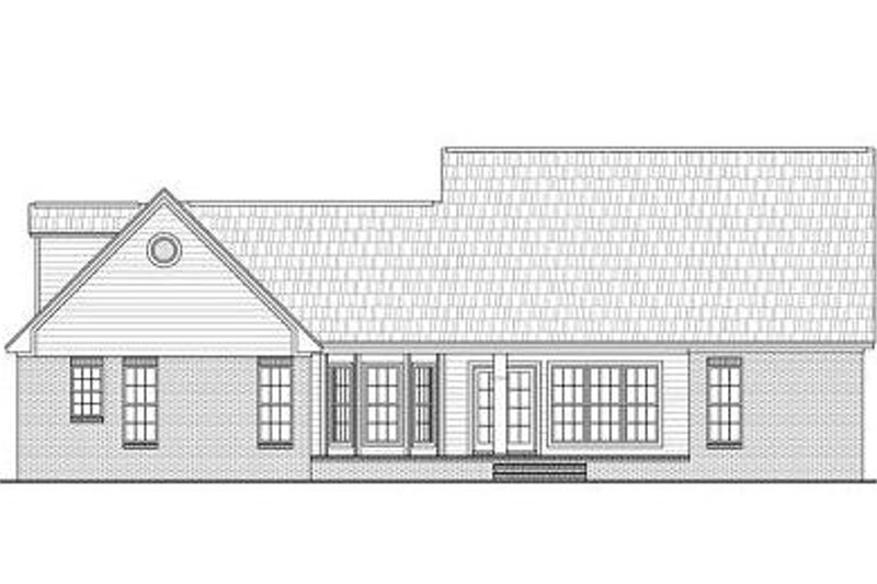 Traditional Exterior - Rear Elevation Plan #21-221 - Houseplans.com