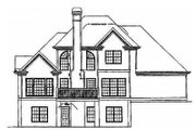 Traditional Style House Plan - 4 Beds 3 Baths 1865 Sq/Ft Plan #129-106 Exterior - Rear Elevation
