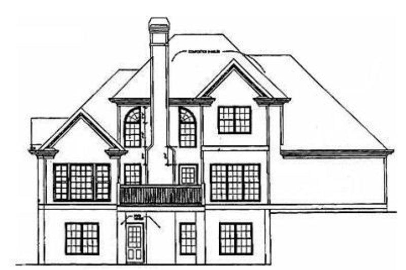 Traditional Exterior - Rear Elevation Plan #129-106 - Houseplans.com