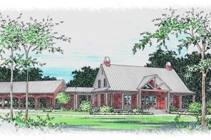 Southern Exterior - Front Elevation Plan #15-259