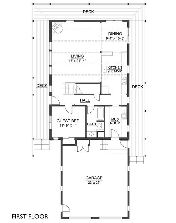 Farmhouse Floor Plan - Main Floor Plan Plan #890-7