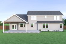 Craftsman Exterior - Rear Elevation Plan #1070-43