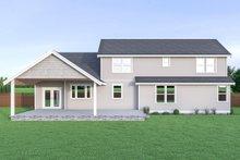 House Plan Design - Craftsman Exterior - Rear Elevation Plan #1070-43