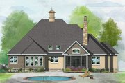 Ranch Style House Plan - 4 Beds 3 Baths 2169 Sq/Ft Plan #929-1049 Exterior - Rear Elevation