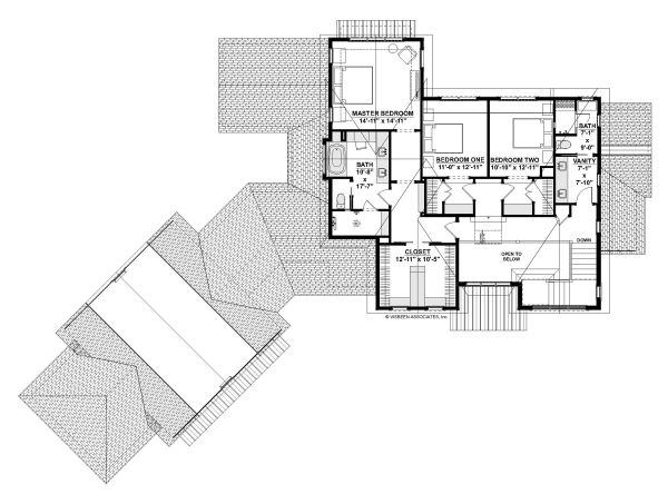 European Floor Plan - Upper Floor Plan Plan #928-342