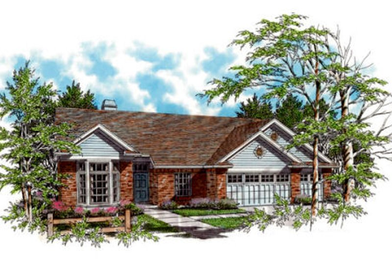 Ranch Exterior - Front Elevation Plan #48-271