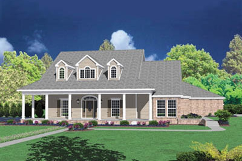 Architectural House Design - Farmhouse Exterior - Front Elevation Plan #36-245