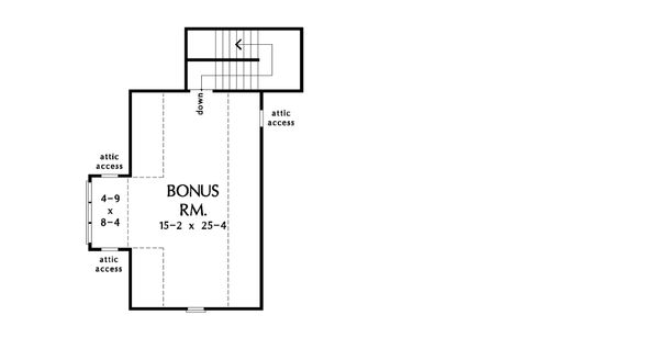 Craftsman Floor Plan - Upper Floor Plan Plan #929-1057