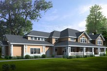 Architectural House Design - Traditional Exterior - Front Elevation Plan #100-425