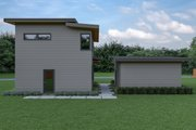 Contemporary Style House Plan - 2 Beds 2.5 Baths 1039 Sq/Ft Plan #1070-66 Exterior - Rear Elevation