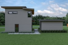 Dream House Plan - Contemporary Exterior - Rear Elevation Plan #1070-66