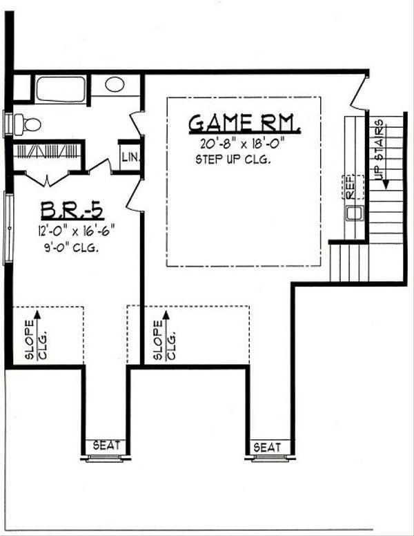 Traditional Floor Plan - Upper Floor Plan Plan #62-147