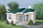 Cottage Style House Plan - 2 Beds 1 Baths 943 Sq/Ft Plan #25-1142 Exterior - Front Elevation