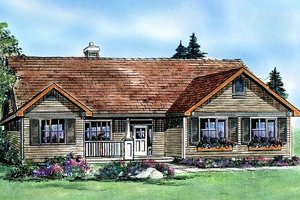 Architectural House Design - Craftsman Exterior - Front Elevation Plan #427-5