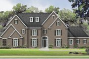 House Plan - 5 Beds 5.5 Baths 5683 Sq/Ft Plan #424-387 Exterior - Front Elevation