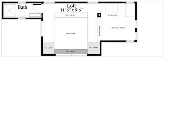 Contemporary Floor Plan - Upper Floor Plan #917-5