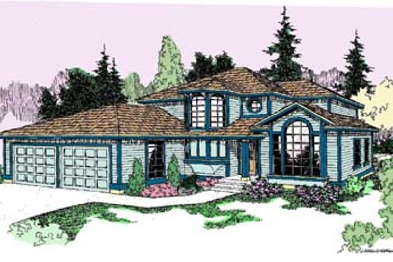 Traditional Exterior - Front Elevation Plan #60-552 - Houseplans.com