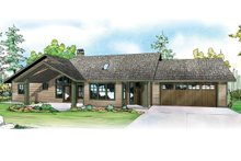Ranch Exterior - Front Elevation Plan #124-953