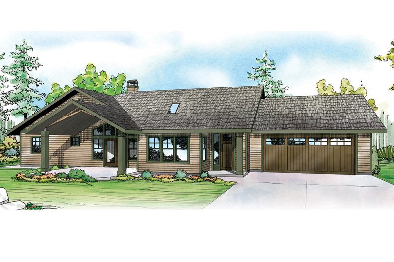 Ranch Exterior - Front Elevation Plan #124-953 - Houseplans.com