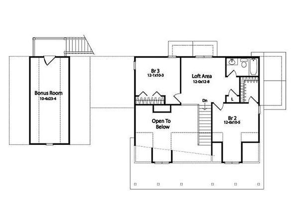 Architectural House Design - Craftsman style house plan, upper level floor plan