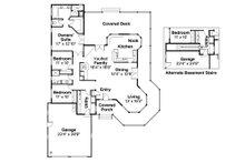 Traditional Floor Plan - Main Floor Plan Plan #124-172