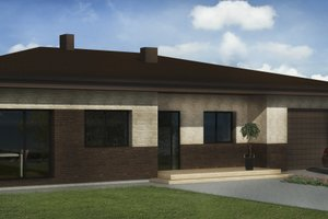 Bungalow Exterior - Front Elevation Plan #906-10