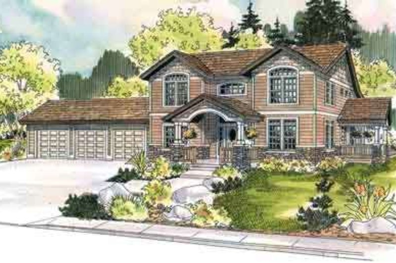 Country Exterior - Front Elevation Plan #124-454