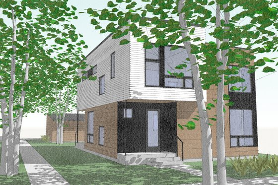 Modern Exterior - Front Elevation Plan #909-2
