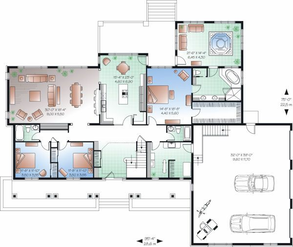 Traditional Floor Plan - Main Floor Plan Plan #23-827