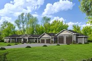 Ranch Style House Plan - 4 Beds 3 Baths 3707 Sq/Ft Plan #117-888