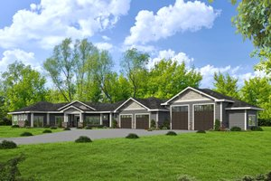 Ranch Exterior - Front Elevation Plan #117-888