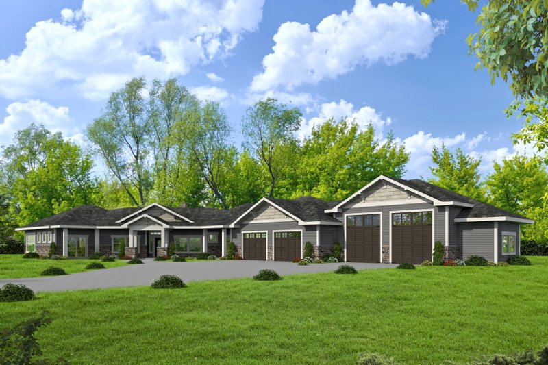 Dream House Plan - Ranch Exterior - Front Elevation Plan #117-888