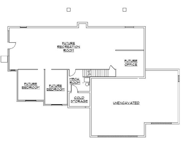 Traditional Floor Plan - Lower Floor Plan Plan #5-254