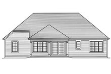 Dream House Plan - Ranch Exterior - Rear Elevation Plan #46-882